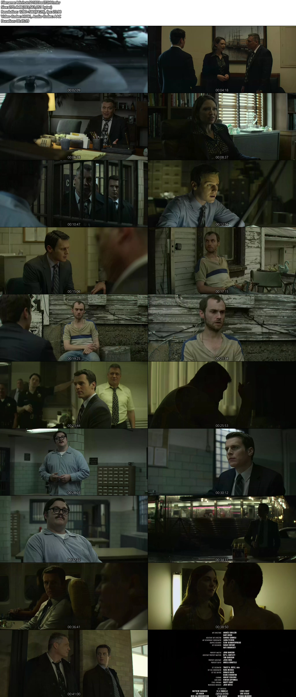 Screenshots Of Hindi Dubbed Show Mindhunter 2017 Season 01 Complete All Episodes 300MB 720P HD