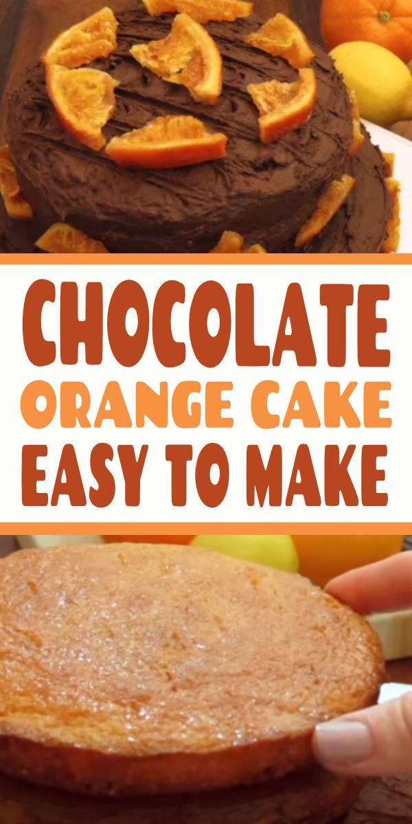 Chocolate Orange Cake Recipe! We've got a magic combination! Easy Best Chocolate Orange Cake Recipe. #chocolate #cake #chocolatecake