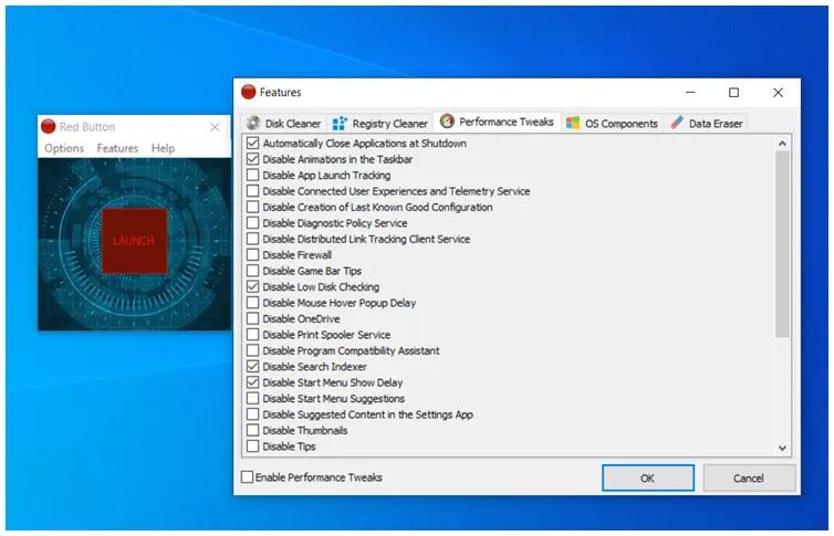 Red Button : Ισχυρό εργαλείο για τη βελτιστοποίηση και τον καθαρισμό του υπολογιστή σας