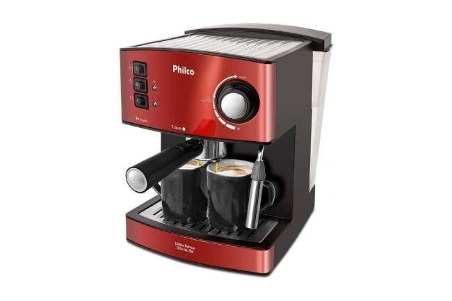 Cafeteira vermelha expresso Philco 20 bar
