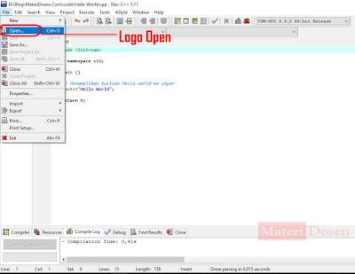 Membuka Program / File Editor yang sudah pernah disimpan