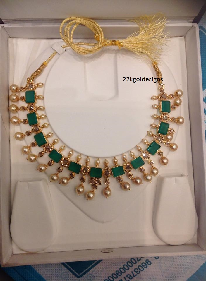 Emerald and South sea Pearl pachi Necklace