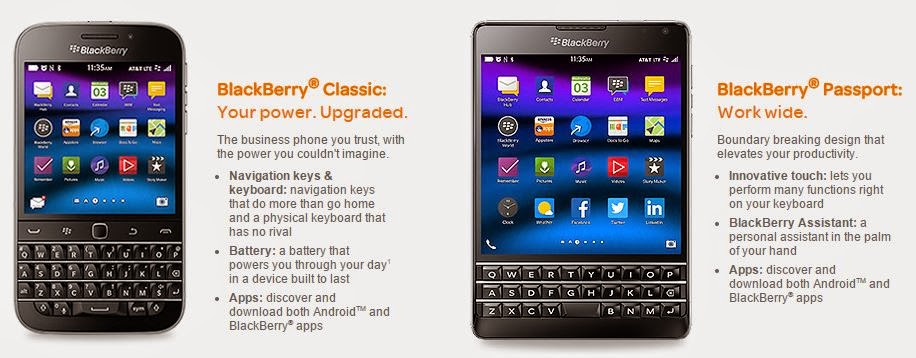 BlackBerry Passport and Classic Available from AT&T on February 20
