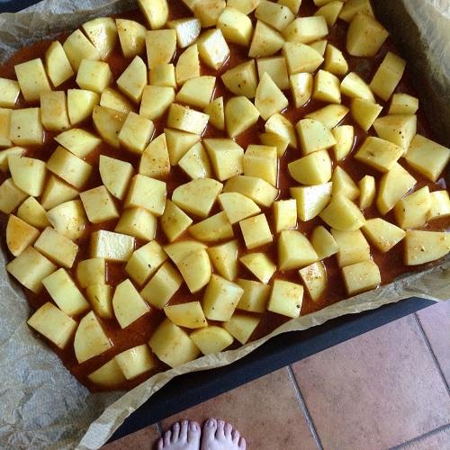 BBQ-Röstkartoffeln aus dem Backofen