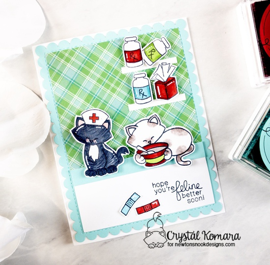 Hope you're feline better soon by Crystal features Newton's Sick Day and Frames & Flags by Newton's Nook Designs; #newtonsnook