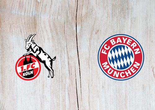 Köln vs Bayern Munich -Highlights 31 October 2020