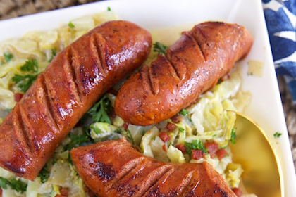 EASY FRIED KIELBASA AND CABBAGE RECIPE