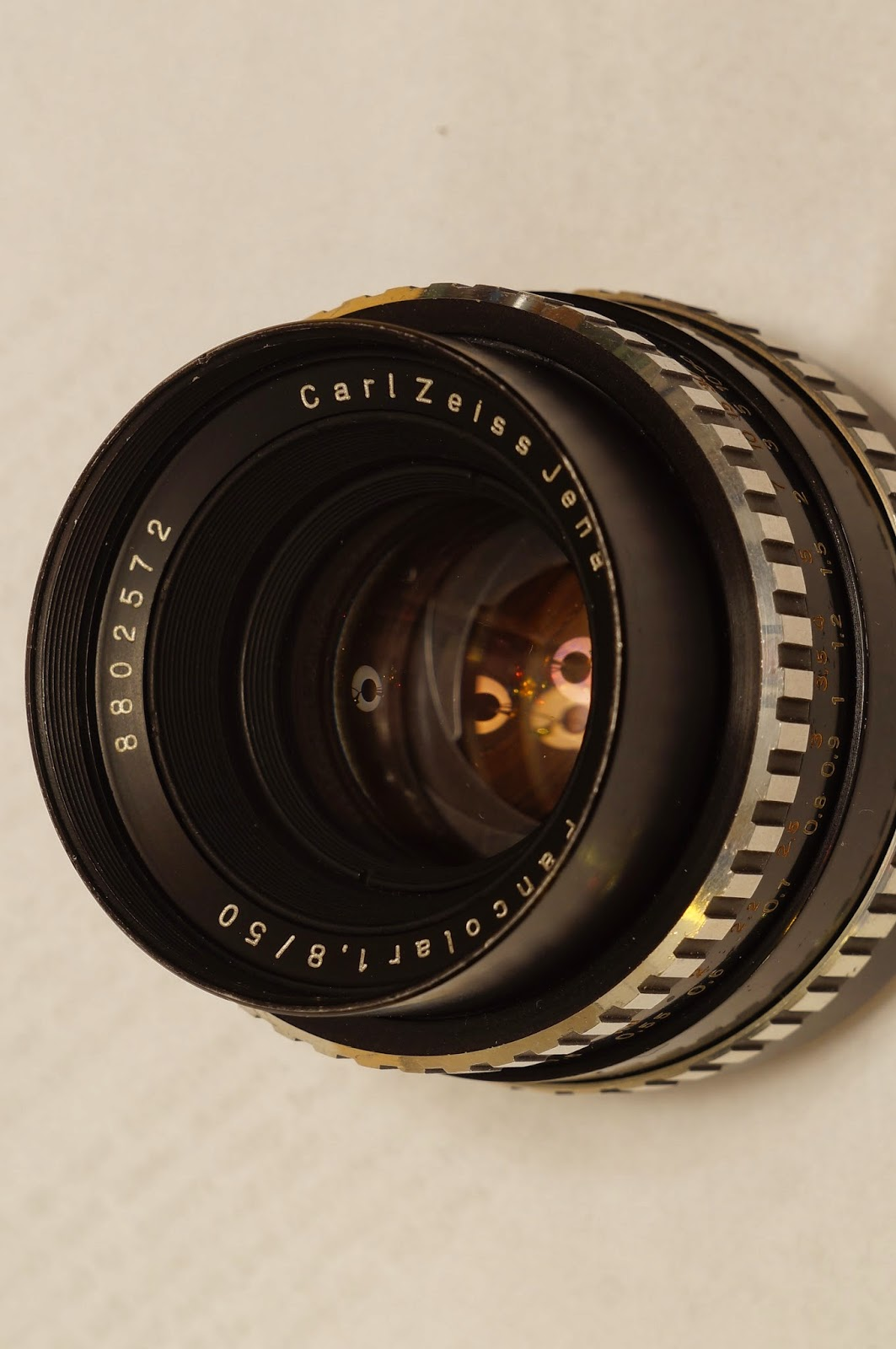 Carl Zeiss Jena Pancolar 1.8/50 zebra 6 blades electric