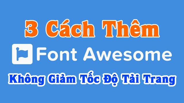 thêm font awesome cho blogspot