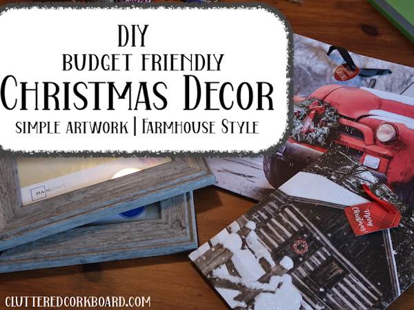 SIMPLE Budget Friendly Christmas Decor Art   Farmhouse Style