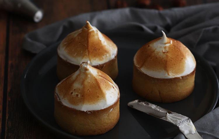 Recette des tartelettes citron et noisette meringuée