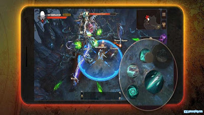Diablo Immortal Gameplay which collects and presence of PVP mode