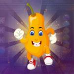 G4K Funny Orange Papaya Escape