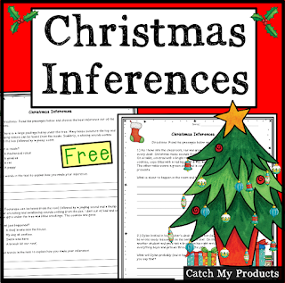 Free Christmas resource on making inferences for kids