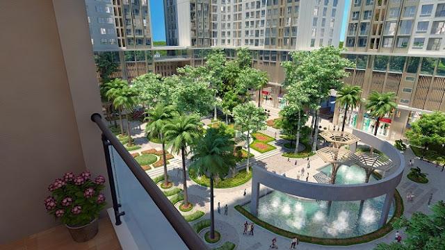 Khuôn viên xanh tại Eco Green City luôn luôn hút khách