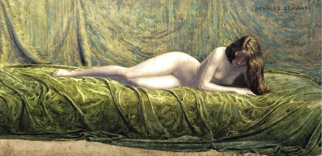1907. Carlos Schwabe - Jade Ring