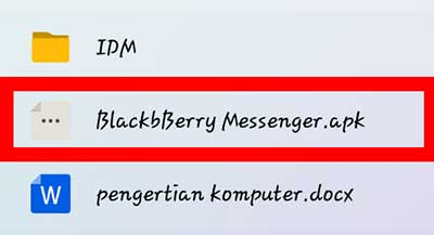 Aplikasi BlackBerry Messenger