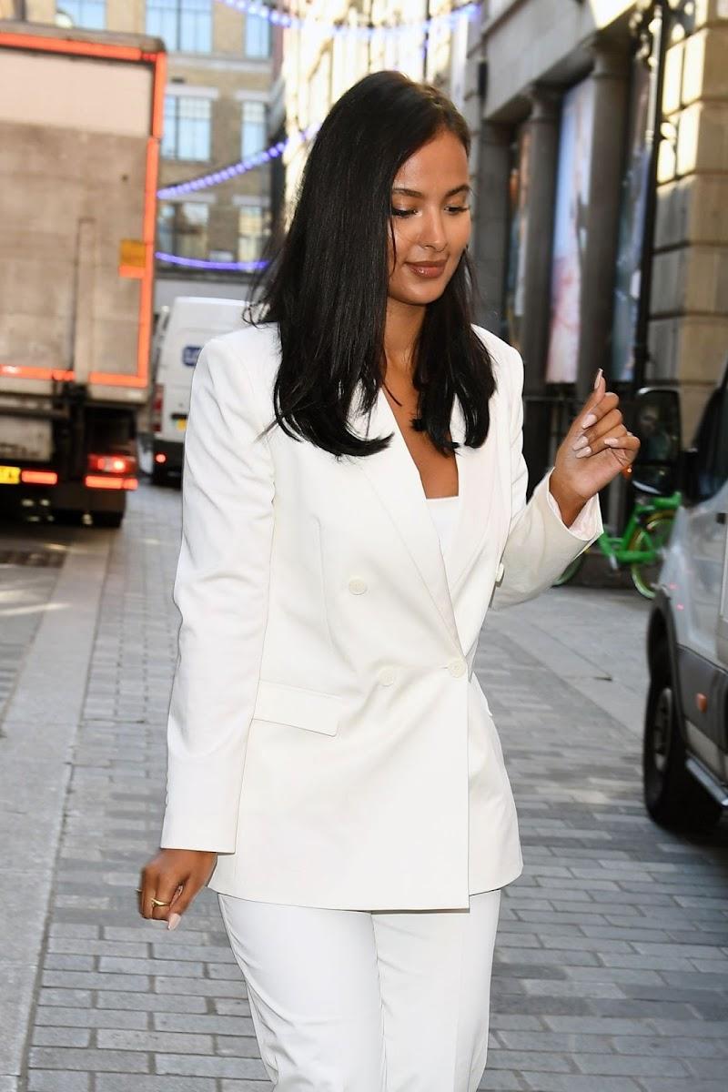 Maya Jama Clicked Outside  in London 2 Sep -2020
