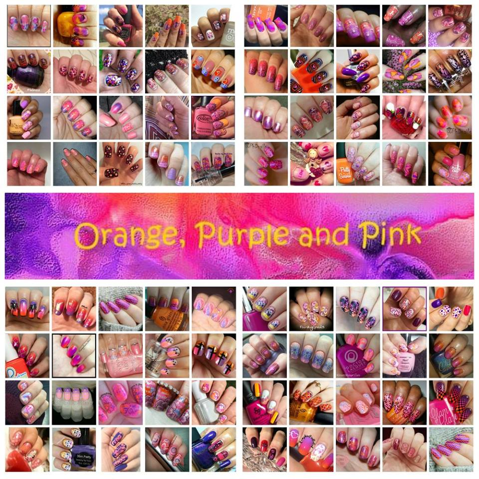 #whencolourcollides collage orange_purple_pink