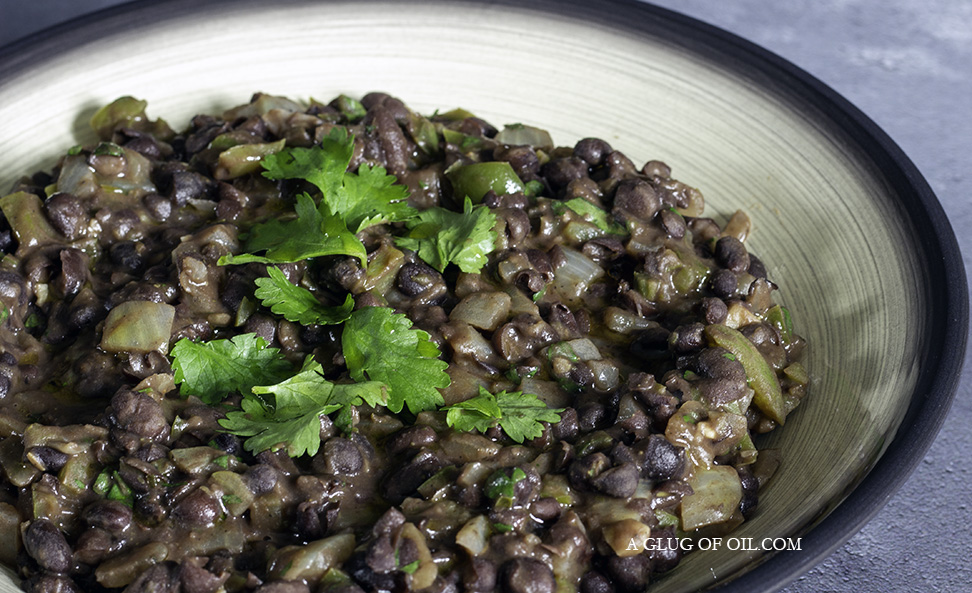 Cuban Black Beans in a bowl