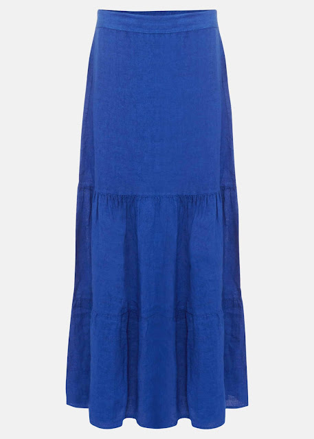 phase eight arvinder linen tiered maxi skirt