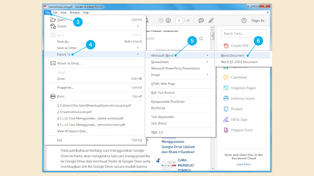 cara mengubah pdf ke word offline