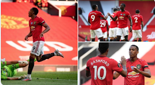 Martial scores first hat-trick as Man Unite