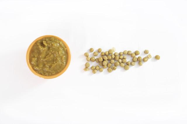Purée de Petits pois et Jambon fumé bebe allergique
