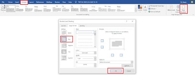 Cara Mengatur Page Border Agar Tidak Terpotong di Word