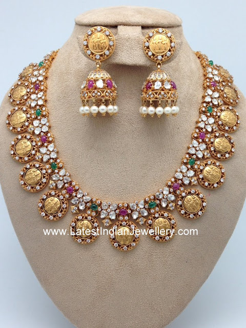 Ram Parivar Necklace Jhumkas