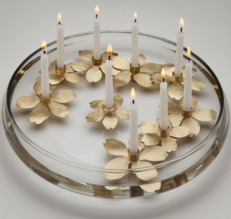 Water Blossom Menorah by Amy Reichert