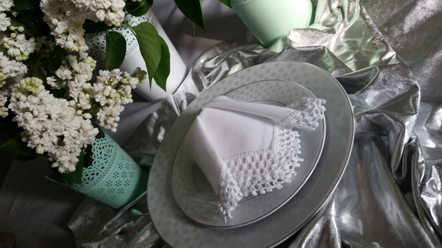 srebrna tkanina