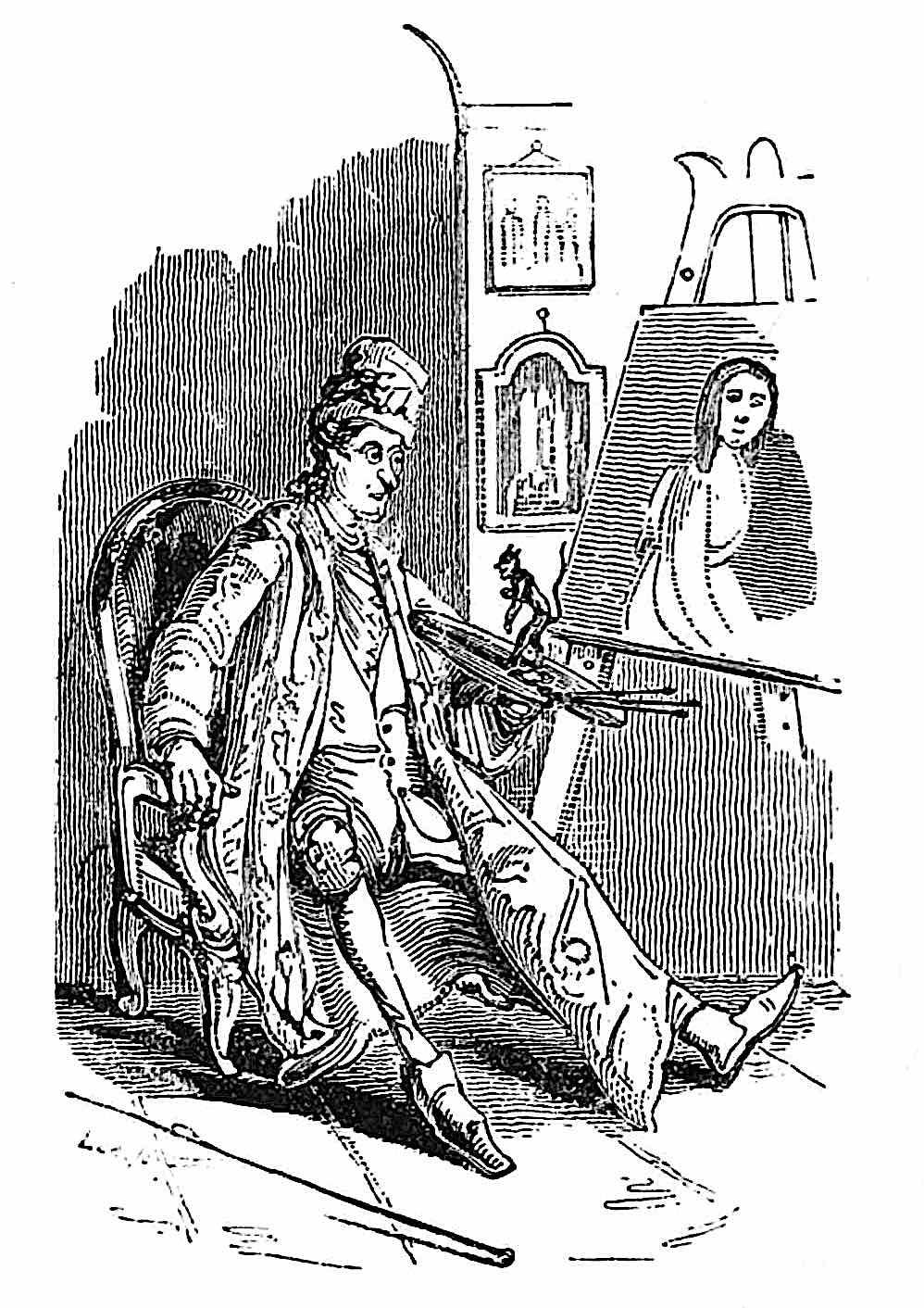 William Makepeace Thackeray, an artist's devil