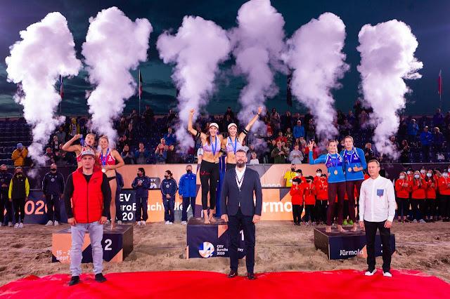 Campeonato de Europa femenino 2020 (Jurmala, Letonia) - Heidrich y Vergé-Dépré se estrenan como campeonas continentales