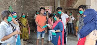 अब मजदूरों की भी सेवा करेगी संस्था : आरती सिंह | #NayaSabera
