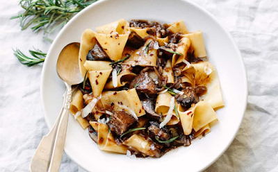 PAPPARDELLE PASTA WITH PORTOBELLO MUSHROOM RAGU #FOOD