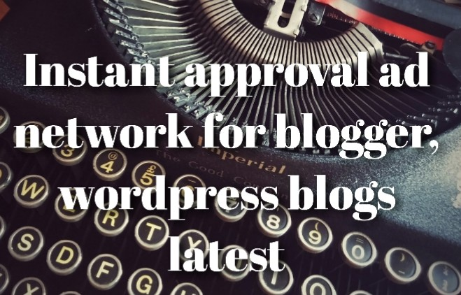 Instant approval ad network