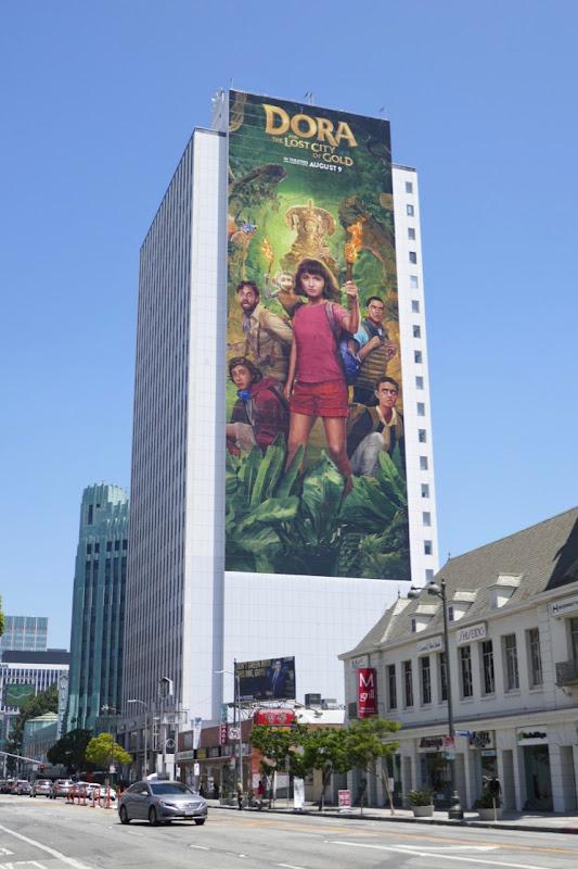 Giant Dora Lost City of Gold film billboard