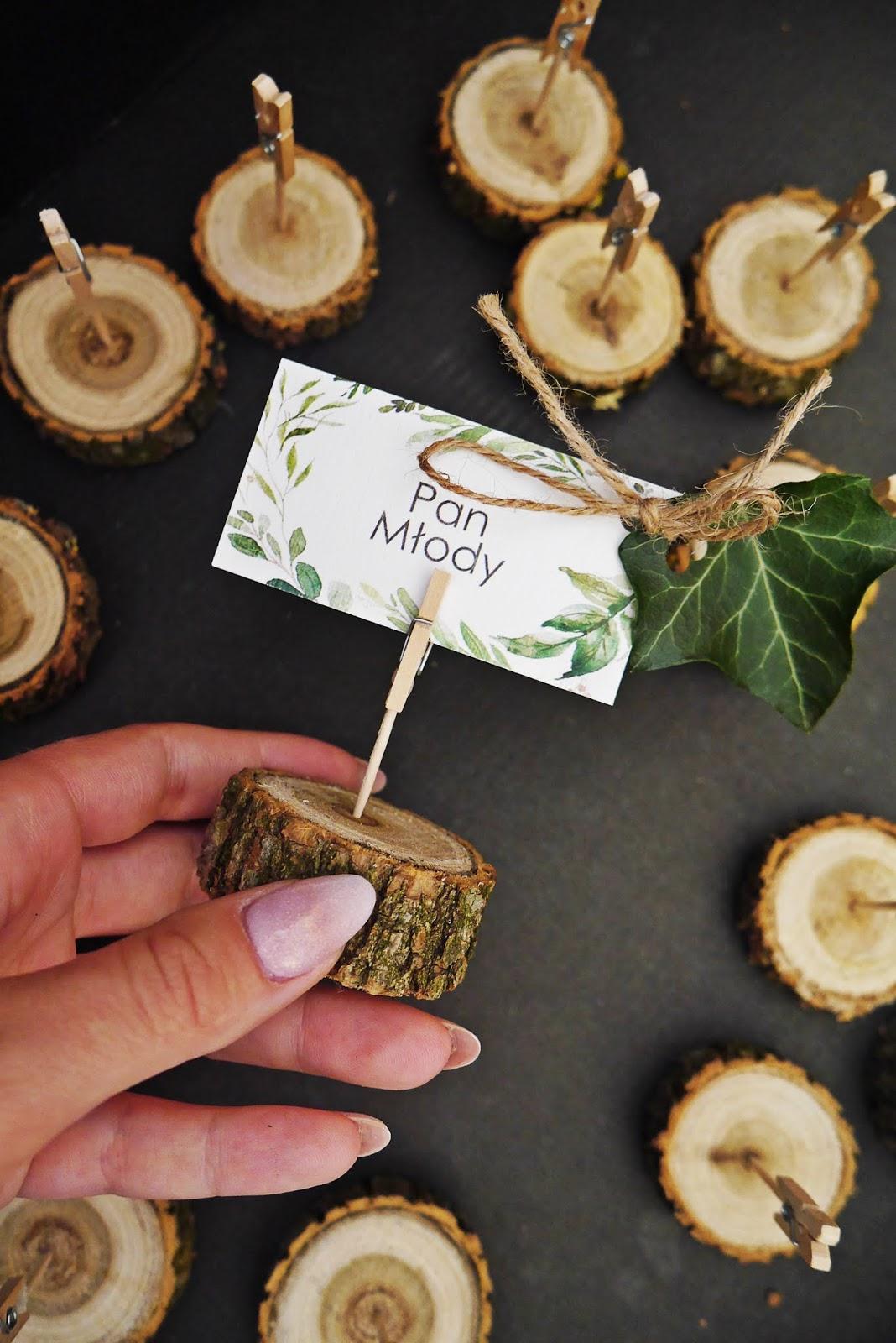 rustykalne winietki na plastrze drewna diy karyn blog modowy blogerka modowa