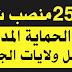 إعلان عن فتح وظائف حكومية 2550 منصب شغل عون حماية في الحماية المدنية
