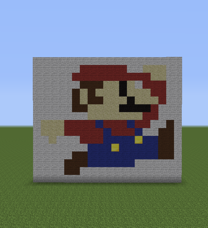 Minecraft Pixel Art Helper Mario Pixel Art