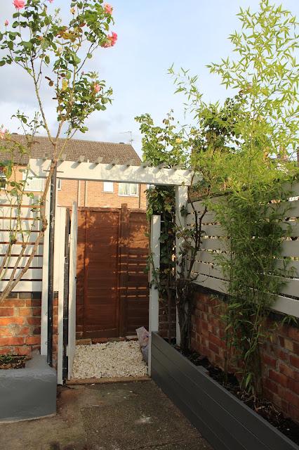 gate pergola in garden