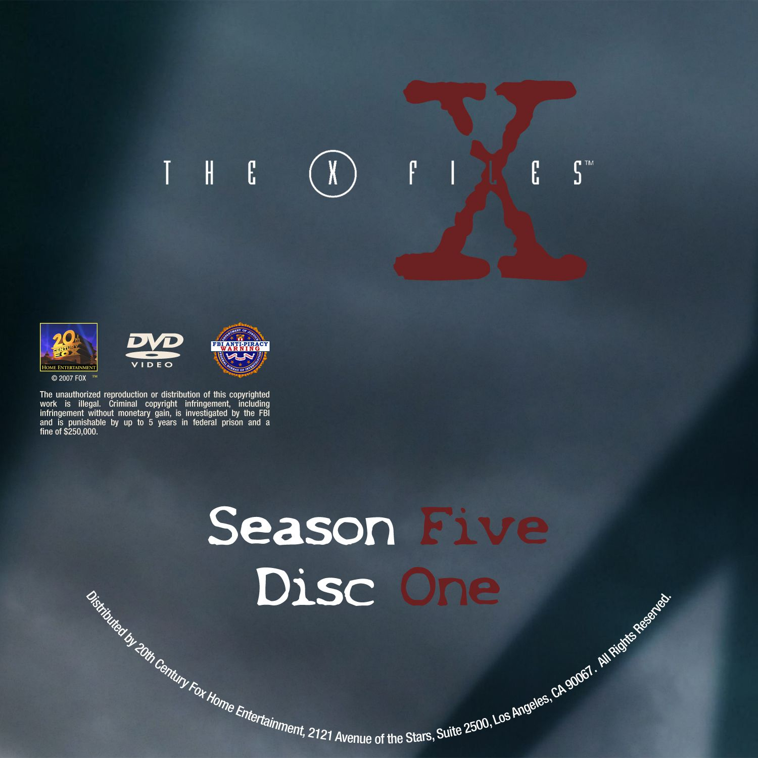 The X Files Season 5 DVD Label Disc1-7