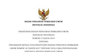 Download Perbawaslu Nomor 5 Tahun 2019