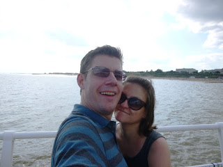 Seaside and minigolf adventurers Richard and Emily Gottfried on Clacton Pier