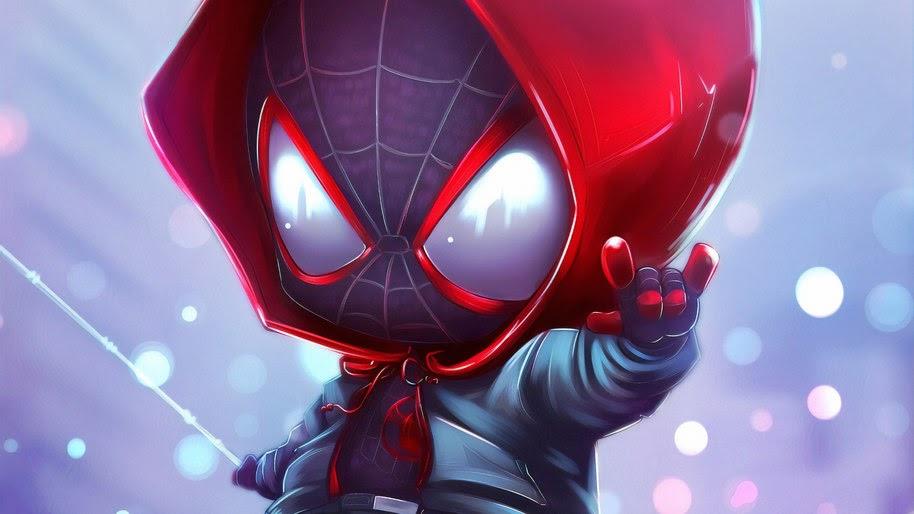 Spider-Man, Miles Morales, Chibi, Marvel, 4K, #238