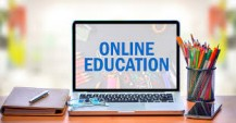 Online education with offline education