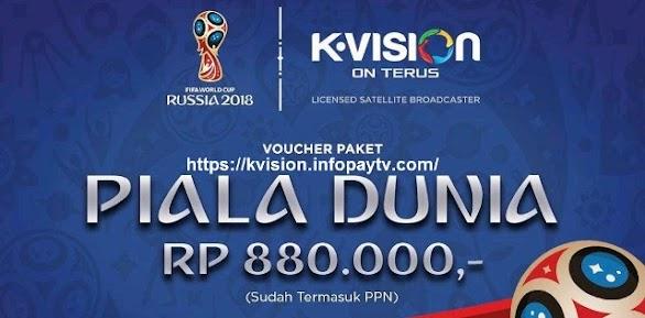 Voucher Fisik Piala Dunia 2018 K Vision Murah