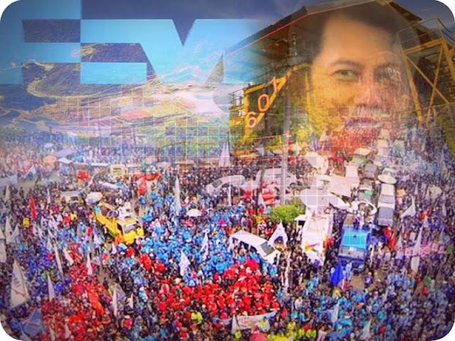 May Day 2017 di Jakarta Fokus Masalah Sudiro dan PHK di Freeport Indonesia