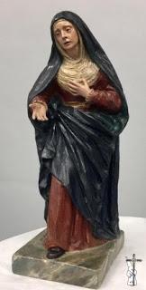 La pequeña Dolorosa de Sebastián Santos de Santa Marta de Sevilla irá a la Exposición de éste en Huelva